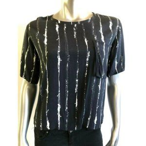 Anthropologie & Other Stories Shirt 6 Black White